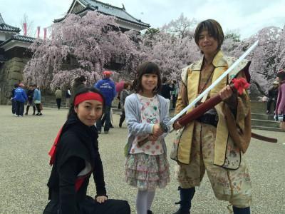 上田城の桜、満開 2015.4.05