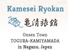 Kamesei Ryokan Onsen Town TOGURA-KAMIYAMADA in Nagano, Japan